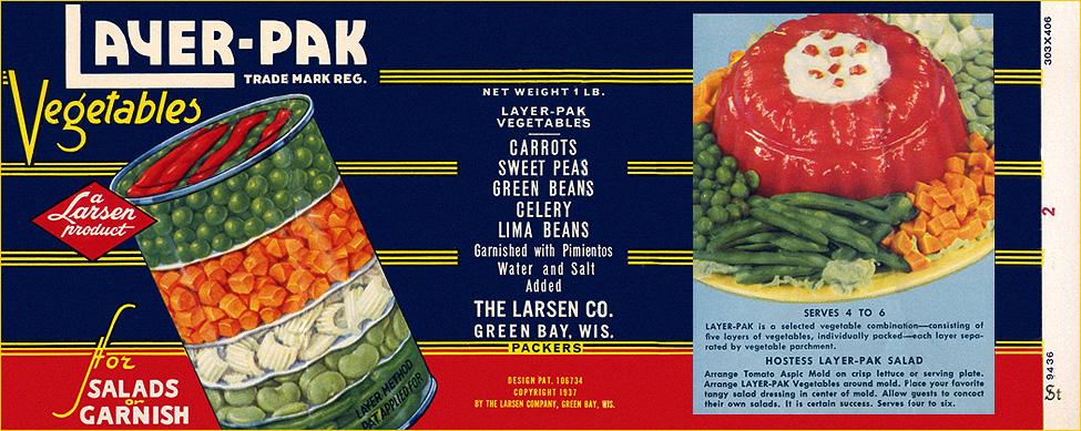 vintage layer-pak salad