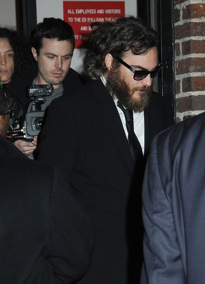 Joaquin Phoenix visits the Late Show