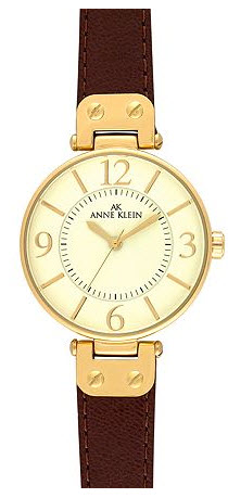 Anne Klein gold and leather band