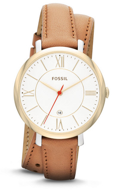 Fossil three-hand date watch