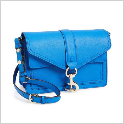 Rebecca Minkoff Hudson Moto Mini Crossbody Bag in Bright Blue (Nordstrom, $265)