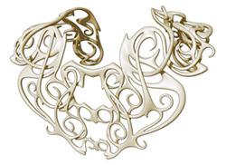 head-turning ornamental back cover
