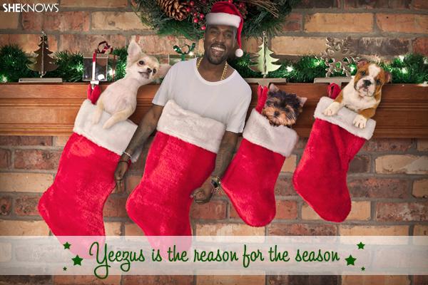 Kanye West Christmas card