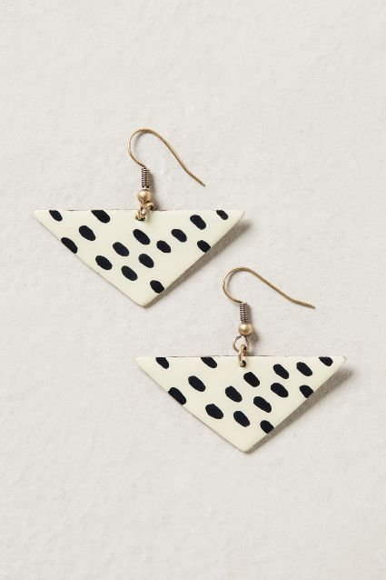 spotted triangle earrings