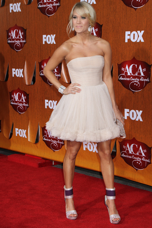 Carrie Underwood at the 2011 American Country Awards