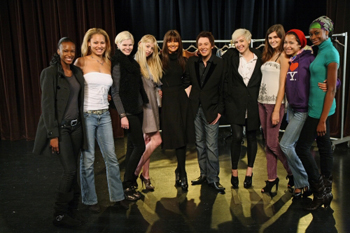 Clay and the ANTM gang strike a pose