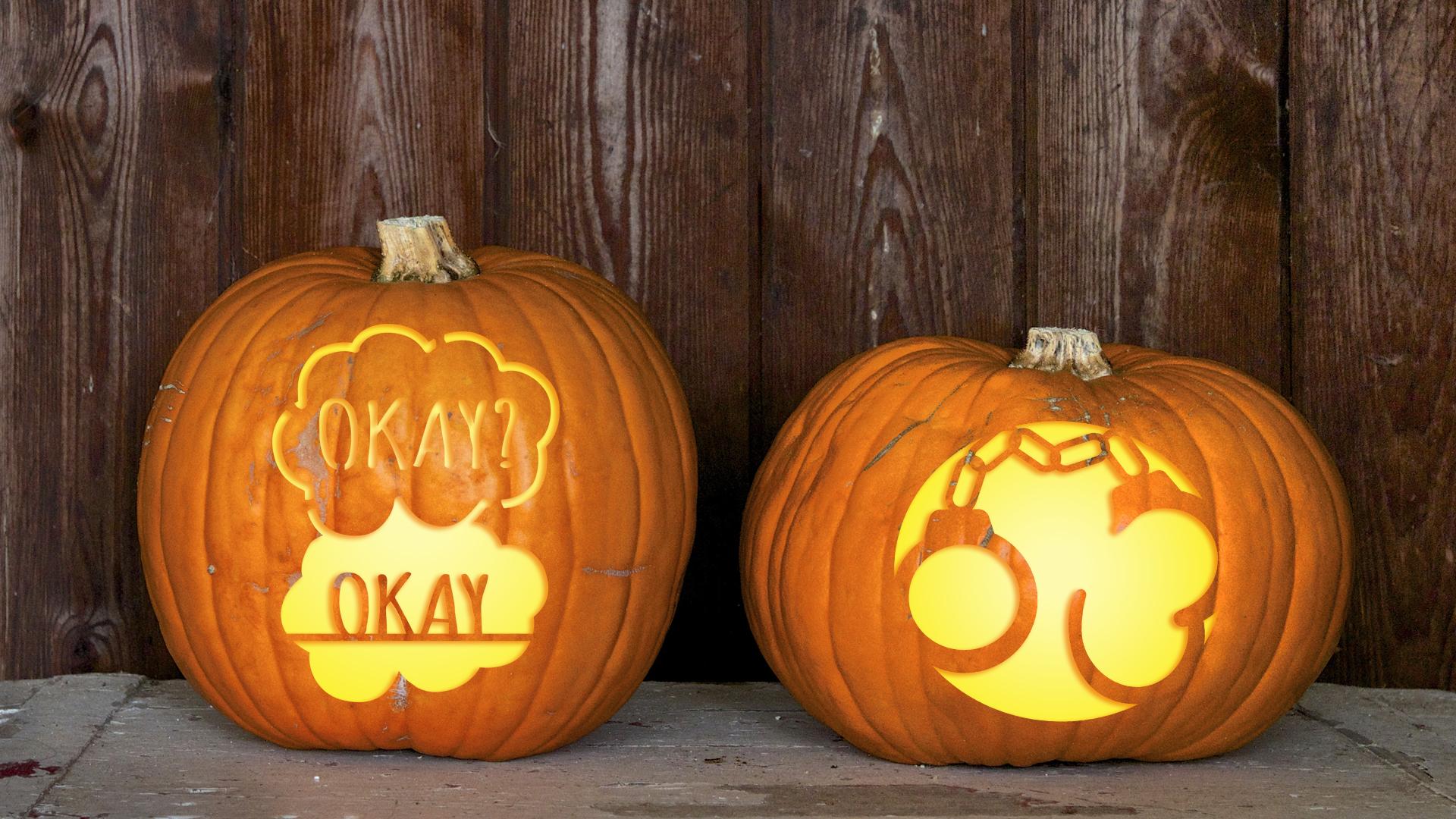 Book pumpkin carving templates