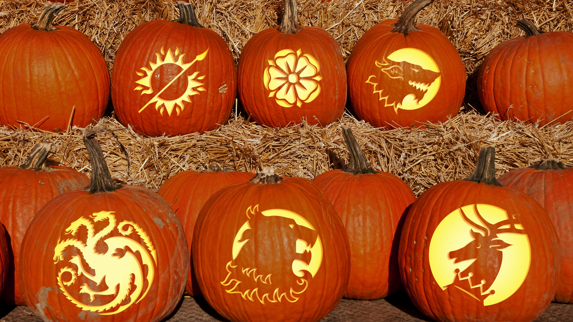 Game of Thrones pumpkin carving templates