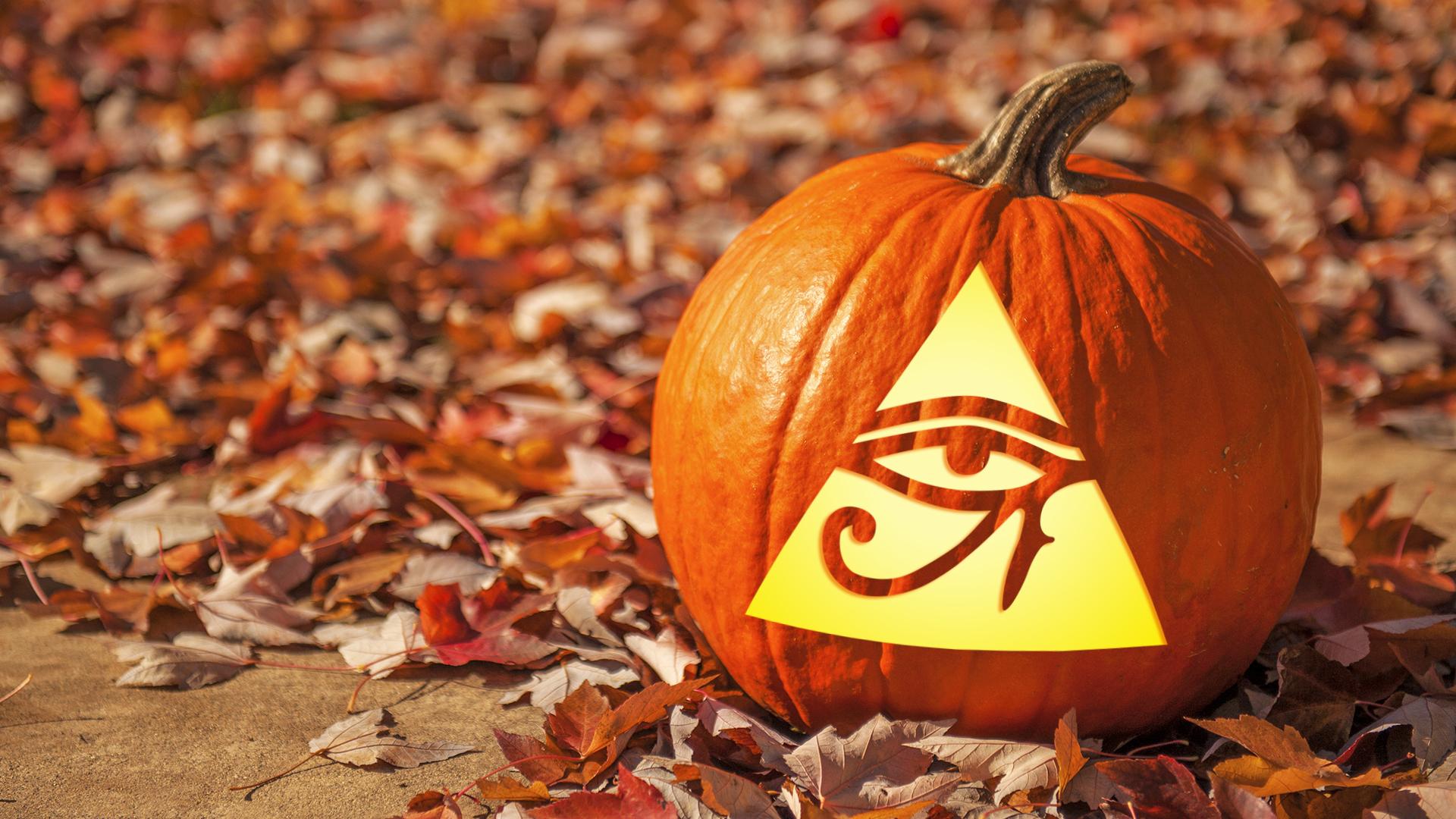 Illuminati pumpkin carving template