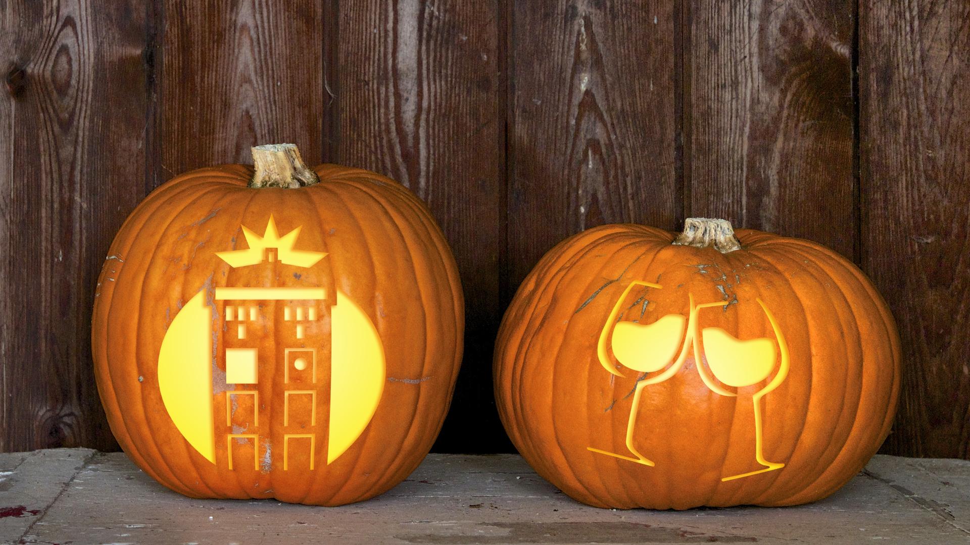 TARDIS pumpkin carving template