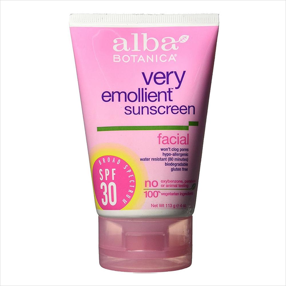 Best Sunscreens for Dry Skin: Alba Botanica Very Emollient Sunscreen Facial SPF 30 | Summer Skincare 2017
