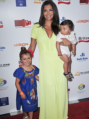 Ali Landry with son and daughter