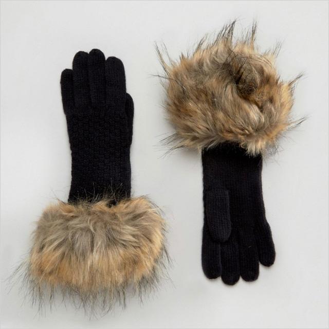 Alice Hannah Woven Stitch Knit Gloves