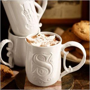 Alphabet stoneware mug