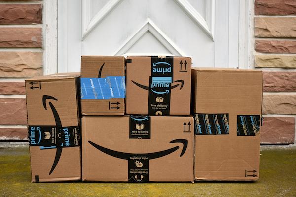 Amazon packages front door