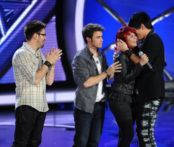 Adam Lambert says bye to Allison on American Idol