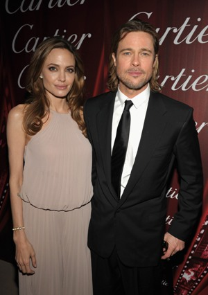 Angelina Jolie and Brad Pitt at the Palm Springs Film Festival
