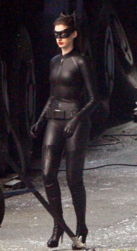 Anne Hathway's full catwoman costume