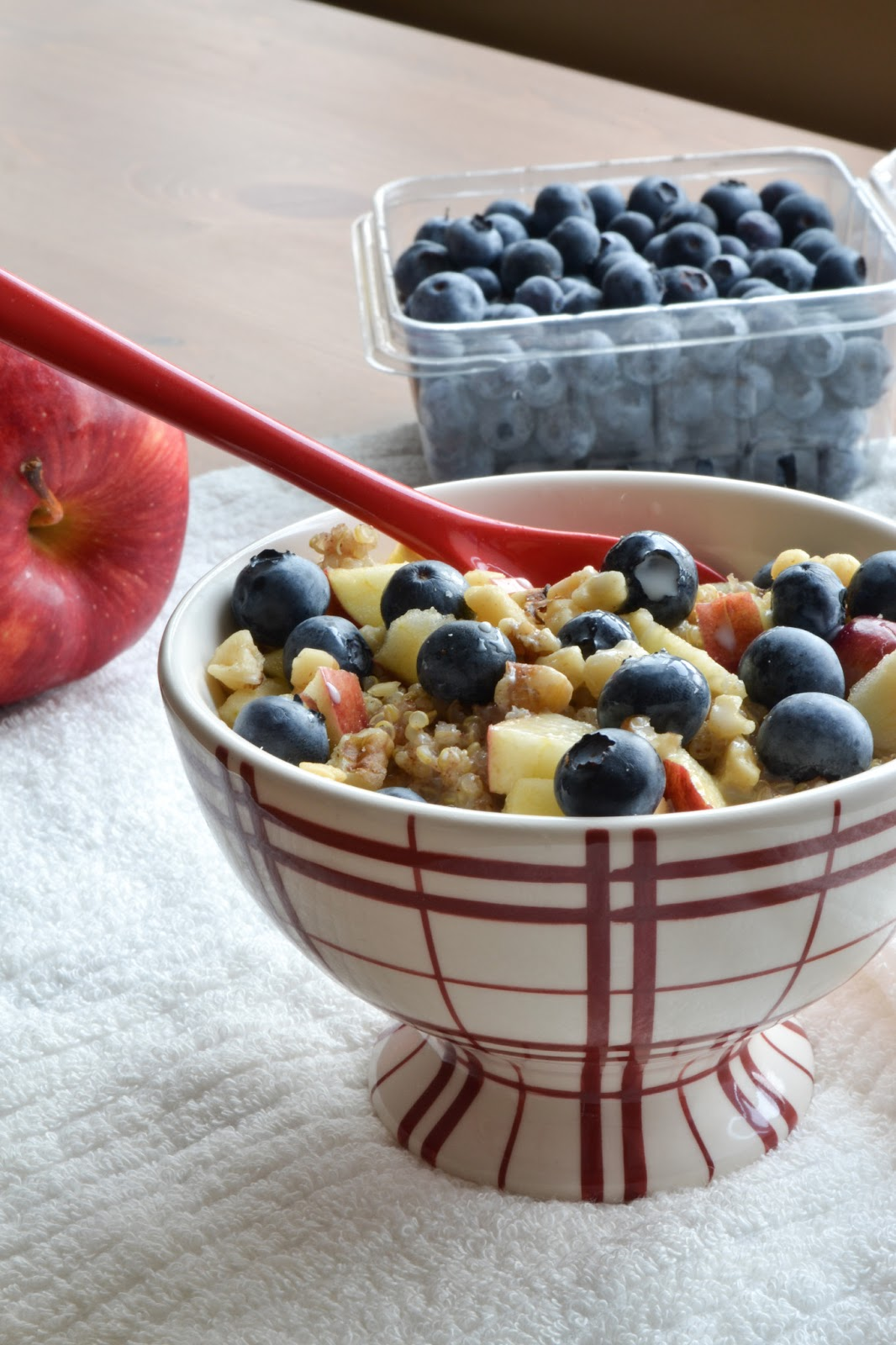 Apple & Blueberry Walnut Breakfast Quinoa