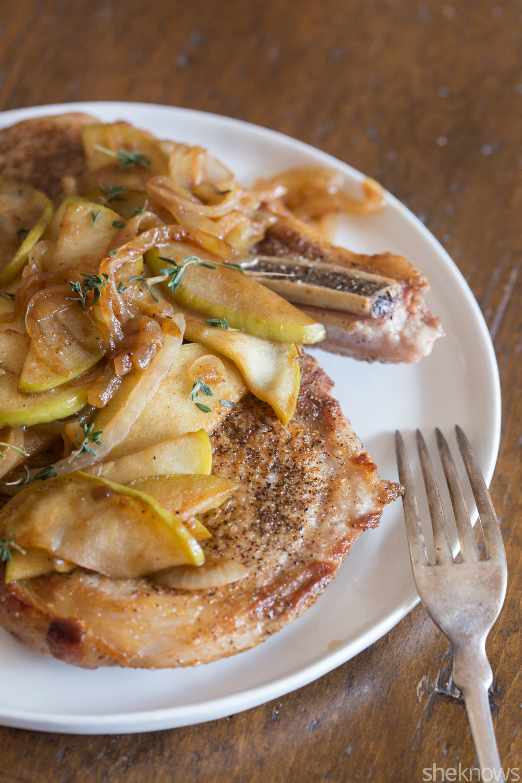 cinnamon apple pork chops