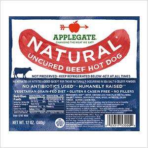 Applegate Hot Dogs