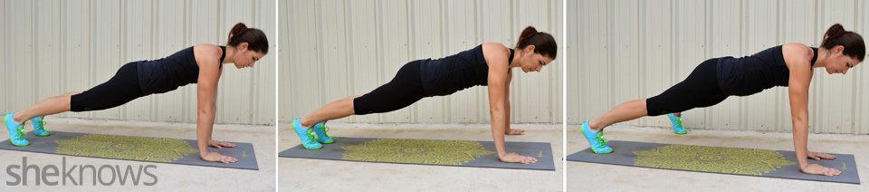 Around the world plank exercise
