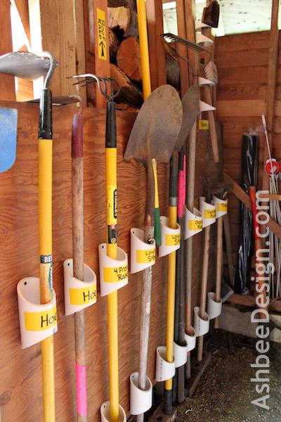 Shovel and rake organizer