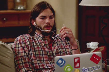 Ashton Kutcher in trouble for laptop stickers