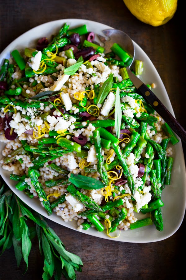 spring asparagus salad with couscous