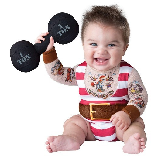 Cute Halloween costumes for babies: Baby Strongman
