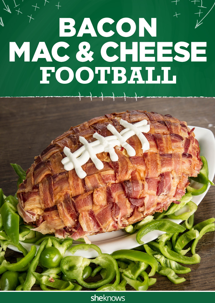 bacon mac and cheese football