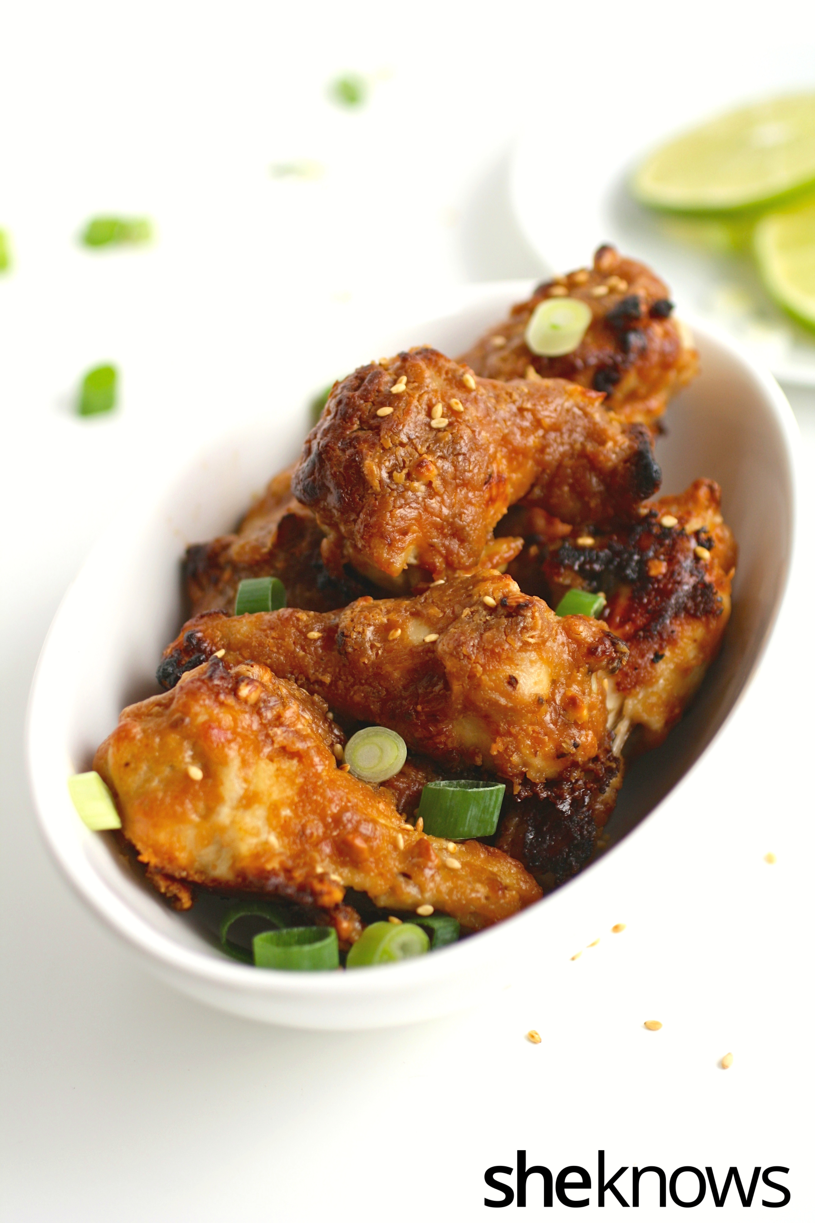 Get your game on with these peanutty Thai-inspired, baked chicken wings