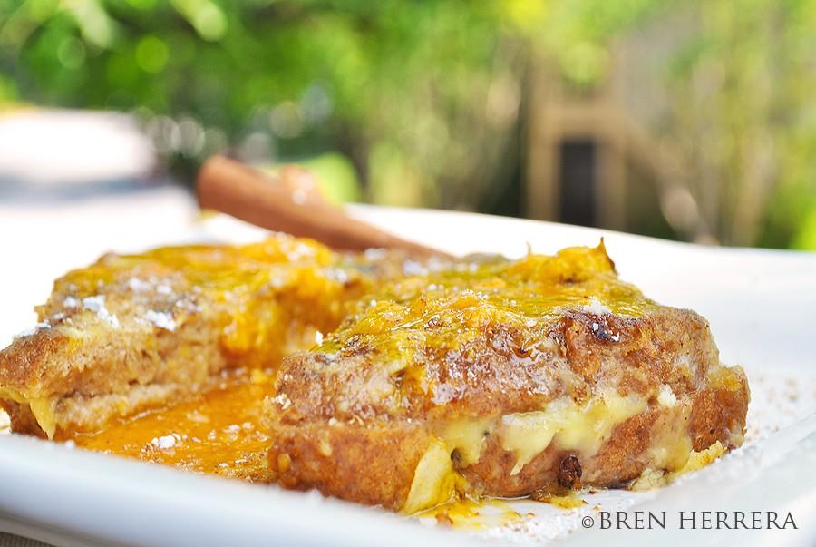 banana rum french toast