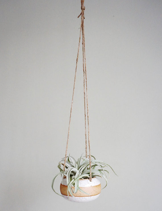 Best Planters on Etsy | Band White Hanging Planter