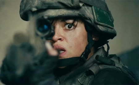 Michelle Rodriguez is ready for Battle: Los Angeles