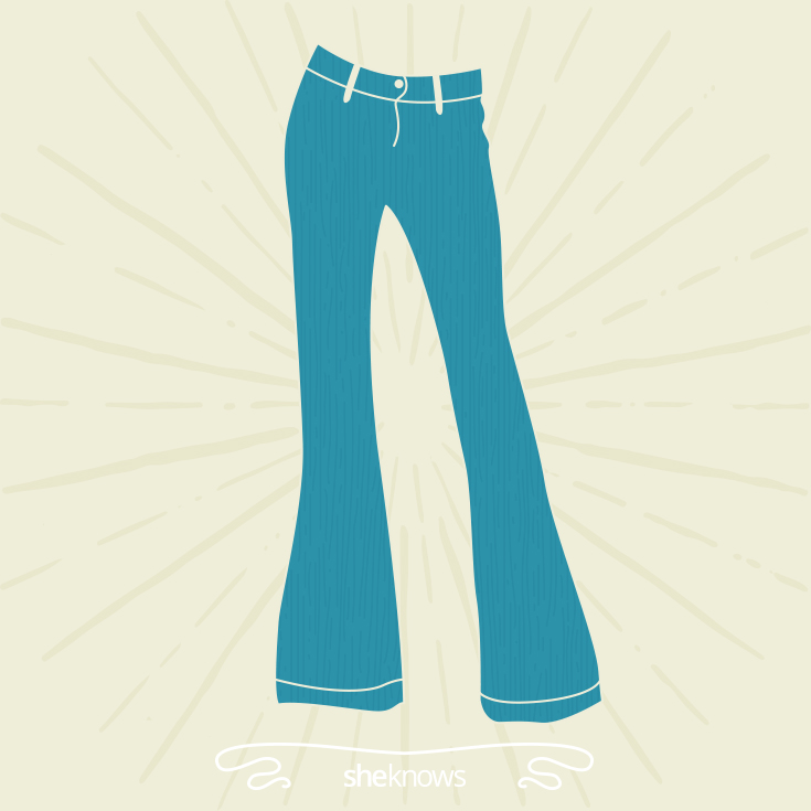 Wide-legged or flared jeans