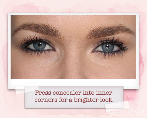 Concealer to make eyes brighter