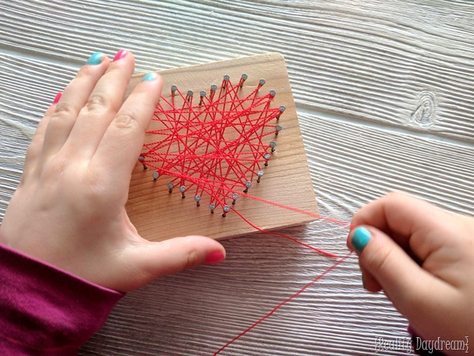 Valentine's crafts for kids | Beginner String Art