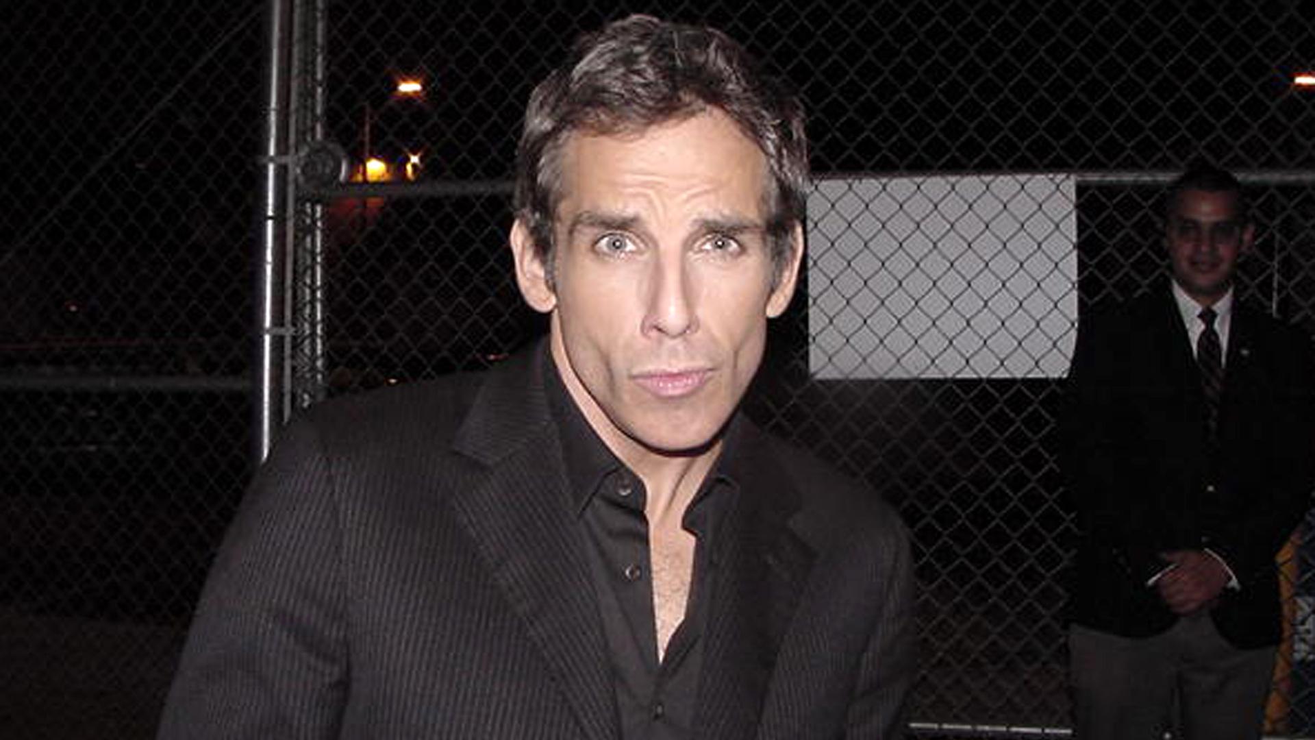 """Ben Stiller striking his """"Blue Steel"""" Zoolander pose"""