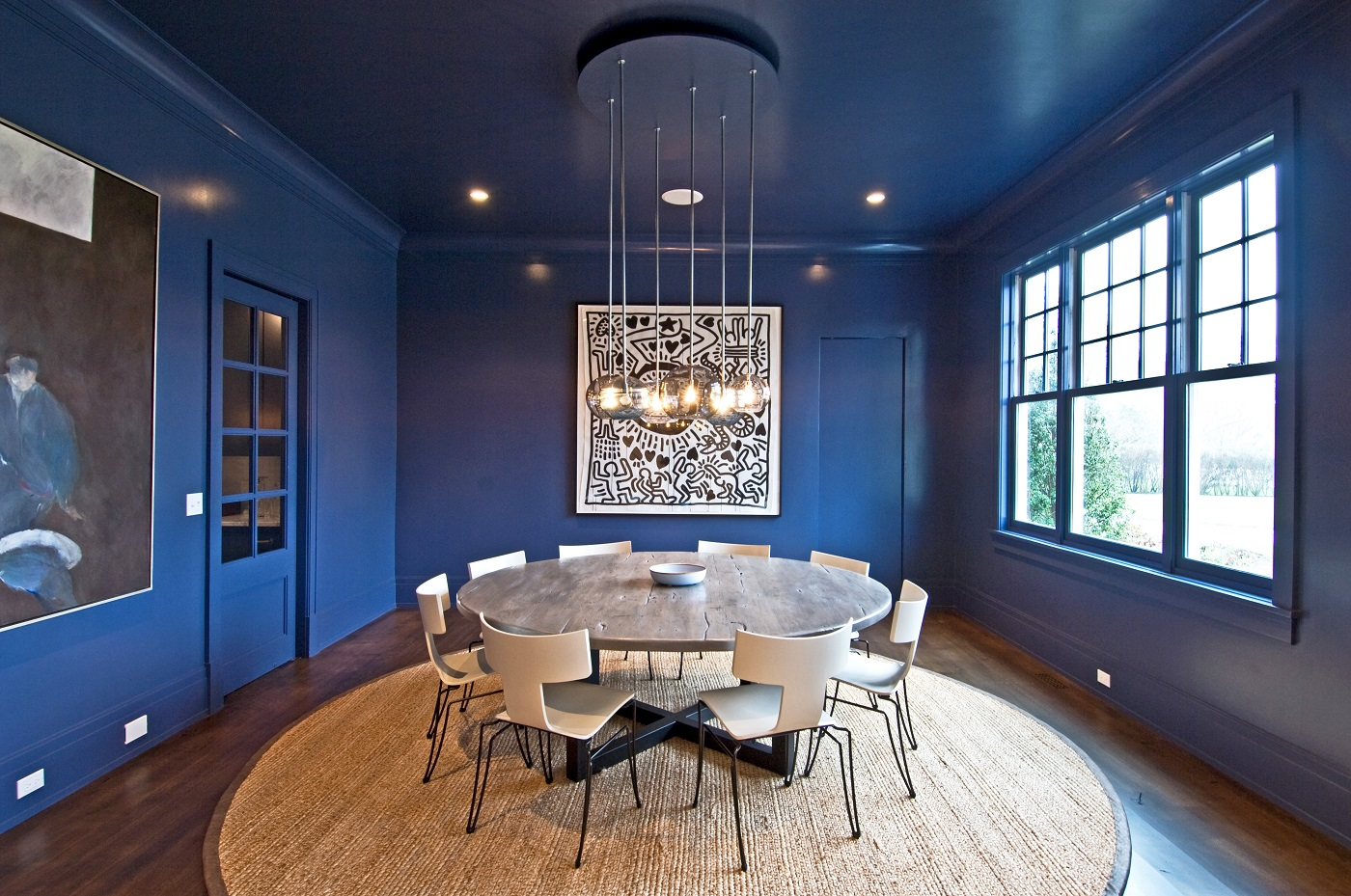 Entire room painted blue