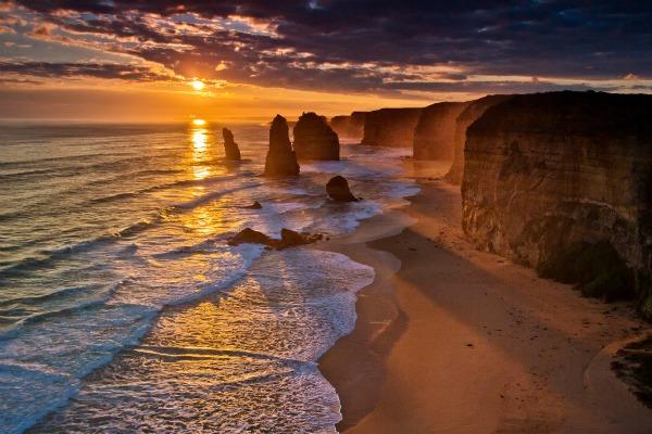 Sunset in 12 Apostles, Victoria