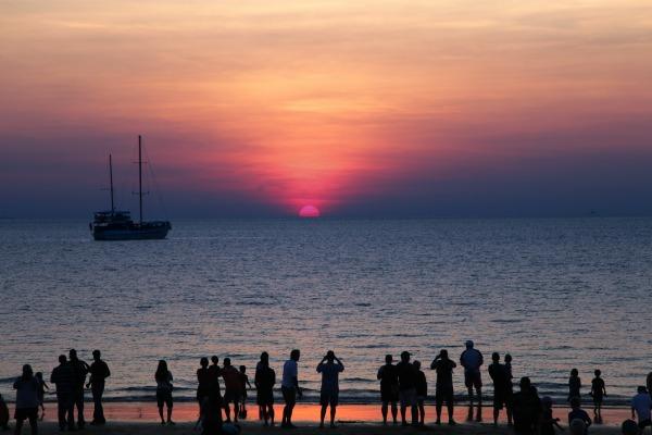 Sunset in Mindil Beach, Darwin, Norther Territory