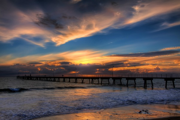 Sunset in Glenelg, South Australia