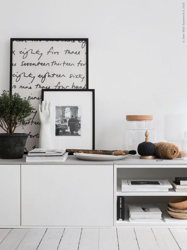 Best Ikea Hacks: Sektion fridge top cabinets used as Media center