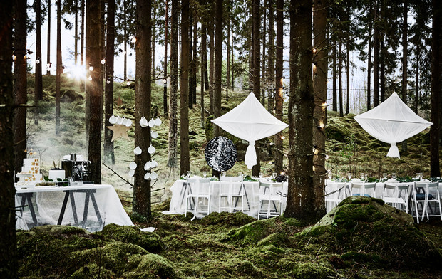 Best Ikea Hacks: A woodland-inspired dinner party