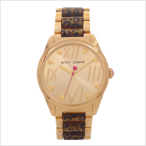 Betsey Johnson Leopard Print Bracelet Watch