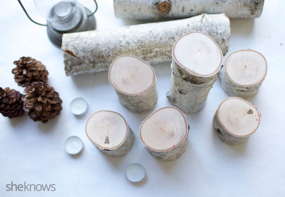 Birch Tea Light DIY Tutorial 2