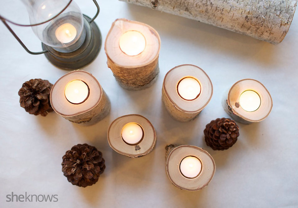 Birch Tea Light DIY Tutorial 5