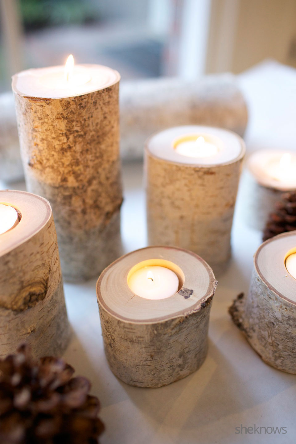 Birch Tea Light DIY Tutorial 6