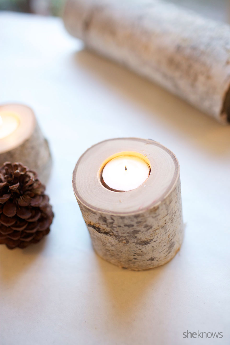 Birch Tea Light DIY Tutorial 3